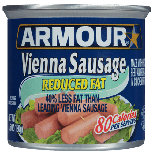Armour Star Vienna Sausage Reduced Fat